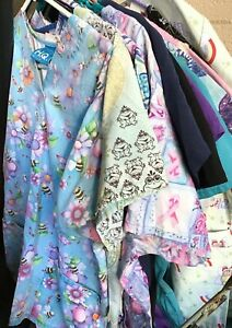 Medical SCRUBS 34pcs S-M  Top Brands BEAUTIFUL COLORS! MIX AND MATCH LOT