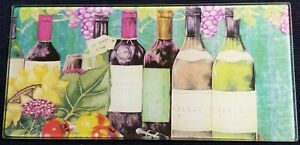 Wine Theme Collage Glass Cheese Cutting Board Home Decor