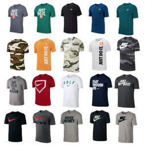 Nike T Shirts Mens Small to 3XL Authentic Short Sleeve Graphic Cotton Crew Tees $22.99