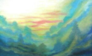 Steven Graff PAINTING quot;Soft Warm Sunsetquot; 34x56 acrylic unstretched ships rolled
