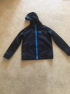 Under Armour ColdGear Reactor Infrared Girls' Hooded Jacket Youth Large Black $18.00