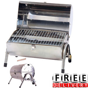 Portable Propane Gas Grill Stainless Steel Barbecue RV Outdoor Backyard BBQ
