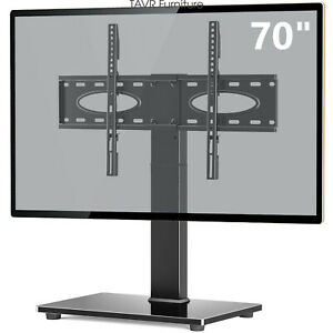 Swivel Tabletop TV Base Stand with Mount for 37 40 45 50 55 60 65 70 inch  TV