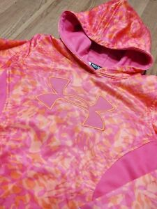 Under Armour Youth Storm Fleece Orange Pink Camo Hoodie Youth Size M $11.00