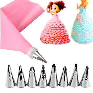 10pcs/set Pastry Cake Decorate Tips Russian Pastry Skirt Icing Piping Nozzles