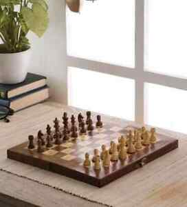 Unique Handicraft Wooden Magnetic Chess Set Board Game Sheesham wood