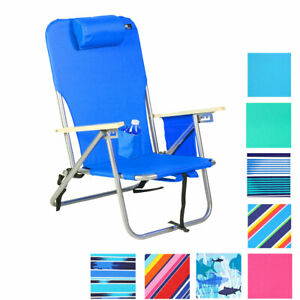 Deluxe 4 position Steel Backpack Chair with Drink Holder & Storage Pouch