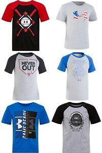 New Under Armour Boys Short Sleeves Shirt Choose Size and Color $10.50