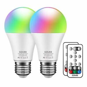 Govee RGBW LED Light Bulbs, 10W (100W Equivalent) 1000lm Color Multi-colored
