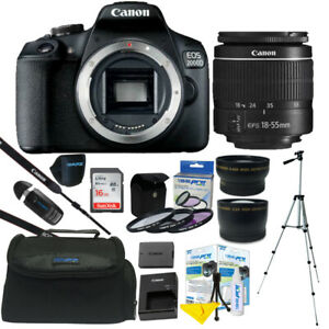 Canon EOS 2000D Rebel T7 24.1MP DSLR Camera 18 55mm Lens All You Need Kit $435.97