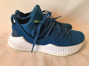 Under Armour Curry 5 Morrocan Blue Basketball Shoes Sneakers Youth Kids 3.5 $21.49