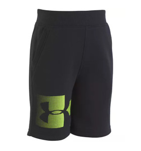 New Under Armour Little Boys Rival Shorts Black With Logo $12.99
