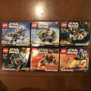 Lego Star Wars Micro Fighter Series 3 Set Of 6 Minifigure