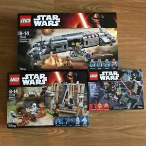Lego Star Wars Set Of 3 Boxes Without Minifigure Only A Main Part