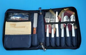PICNIC TIME INC BAG WITH CUTTING BOARD, OPENER, UTENSILS, NAPKINS APPETIZER SERV