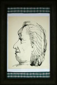 Original Pablo Picasso Pencil Hand Signed Aquatint Etching Old Woman Buffon 1943