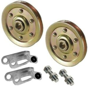 Garage Door Pulley 3 and Safety Cable Guide for Extension Springs 2 Pack 200