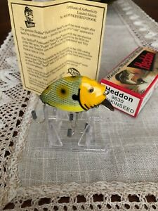 VINTAGE HEDDON PUNKINSEED LURE #9630 LIMITED EDITION FROG SCALE YELLOW HEAD