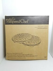Pampered Chef Microwave Chip Maker Set of Two #1241 Potato Chips No Oil D2!!!!