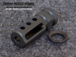 1 2x28 223 muzzle brake with free crush washer. Custom Made in the U.S.A.