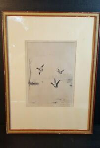 Walter E. Bohl Signed Sporting Art Ducks  Geese Etching