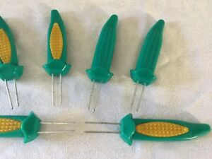 6-Jumbo Corn on the Cob Holders Fork Prongs