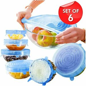 Silicone Stretch Lids – 6 Pcs Food CoverVarious Sizes