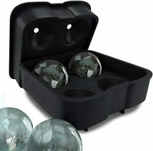 Silicone 3D Ball ICE Cube Tray Maker Round Ball Sphere Mold Whiskey Cocktails