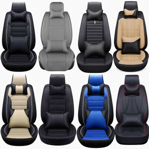 13×Deluxe PU Leather Car Seat Cover Cushion Protector 5 Seats Full Set Universal