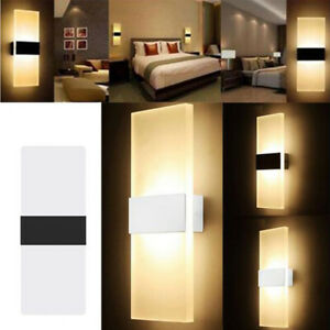 3W-12W Modern LED Wall Light Up Down Cube Indoor Outdoor Sconce Lighting Fixture