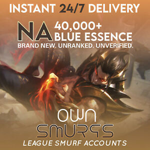 NA 40K League of Legends SMURF Account LoL 40000 50000 BE UNRANKED C $5.00