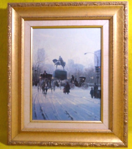 G. HARVEY SIGNED CANVAS LITHOGRAPH AVENUE OF THE AMERICAS COA LTD ED 3842500
