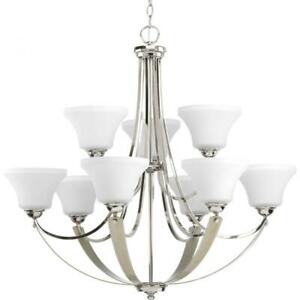 Progress Lighting P400013 104 Noma Chandelier, Polished Nickel