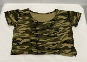Cropped Camouflage Women's Shirt Small