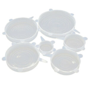 Silicone Stretch Lids 6 Pcs Stretchable Reusable Food Saver Covers for