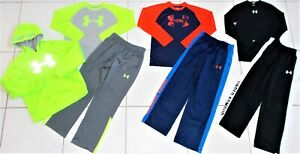 BOY'S UNDER ARMOUR SIZE MEDIUM AWESOME TOPS, PANTS AND HOODIE CLOTHING LOT EUC! $99.00