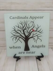 Cardinals Appear When Angels Are Near Glass Cutting Board Or Decoration