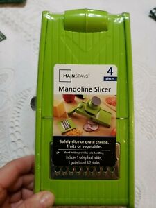 UNOPENED-Mainstays Mandoline Slicer-Safely Slice or Grate Cheese, Fruits