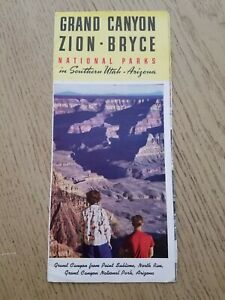 RARE 1950 Utah Parks Company Grand Canyon Bryce Zion Tours & Prices Brochure AZ