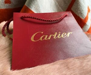 Brand New Cartier Shopping Gift Paper Bag 8quot; x 7quot; x 3quot; $22.00