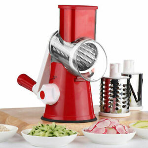 Multi functional Round Mandoline Slicer Manual Cheese Vegetable Cutter Grater