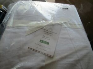 Pottery Barn ADETTE EMBROIDERED COTTON linen duvet full queen New with tag