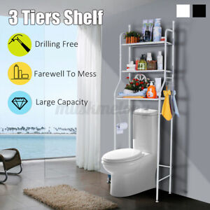 3-Tiers Shelf Toilet Bathroom Space Saver Organizer Metal Towel Storage Rack