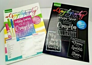 2: Crayola Crayoligraphy Hand Lettering & Midnight Metallic Calligraphy Book NEW