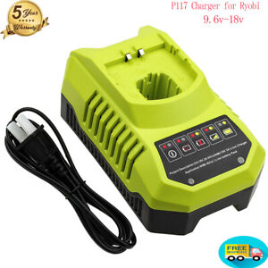 Battery Fast Charger for Ryobi P117 P118 9.6 18V One Plus P104 P108 Battery NEW