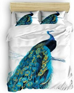 LOVE HOME DAY Duvet Cover Sets Animal Peocock with Branch Ultra Soft 4 Pieces B