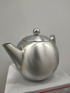 Stainless Steel Tea Pot With Removable Infuser   Loose Leaf and Tea Bag 1 Liter