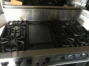 viking 48 gas range stainless 6 burner with griddle