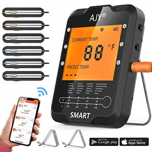 BBQ Meat Grill Thermometer,AJY Smart Bluetooth Wireless Remote Digital Cooking 6