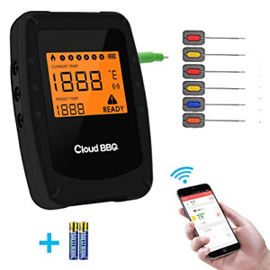 Wireless Meat Grill Thermometer Bluetooth Adapter for iOS&Android, Digital for